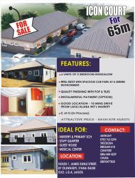 2 bedroom Semi Detached Bungalow House for sale House 1, James Street, by Oluwasheyi, Iyana isashi Ojo, Lagos   Okokomaiko Ojo Lagos
