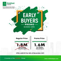 Land for sale Richfield Estate Epe Road Epe Lagos