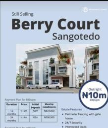 Residential Land Land for sale Berry Court Monastery road Sangotedo Lagos