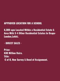 Commercial Land Land for sale Residential Esate Osapa london Lekki Lagos