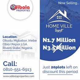 Residential Land Land for sale Iriebe Obio-Akpor Rivers