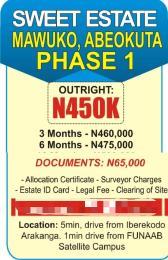 Residential Land Land for sale - Mawuko Abeokuta Ogun