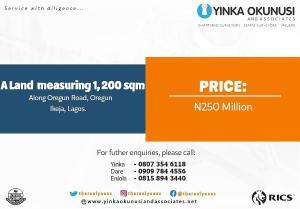 Land for rent Oregun Oregun Ikeja Lagos