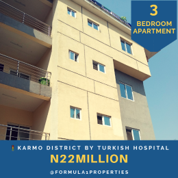 3 bedroom Flat / Apartment for sale Less than 5minutes drive from Turkish Hospital Karmo Abuja