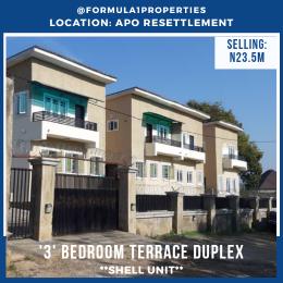 3 bedroom Terraced Duplex House for sale Apo resettlement Apo Abuja
