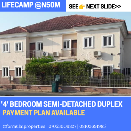 4 bedroom Terraced Duplex House for sale Less than 5 Minutes drive after brains and hammers/GODAB Life Camp Abuja