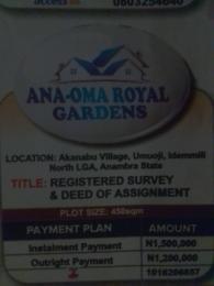 Mixed   Use Land Land for sale Akanabu village umuoji idemmili North LGA Anambra state Nigeria Anambra West Anambra
