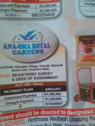 Mixed   Use Land Land for sale Akanabu village umuoji idemmili North LGA Anambra state Nigeria Idemili North Anambra