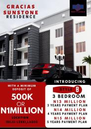 3 bedroom Blocks of Flats House for sale Along free trade zone road beside new access bank Free Trade Zone Ibeju-Lekki Lagos