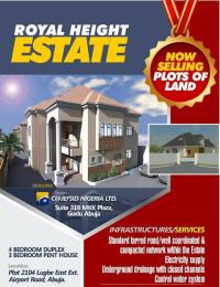 4 bedroom Residential Land Land for sale Plot 2104 Lugbe east ext. airport road Lugbe Abuja