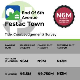 Residential Land Land for sale End of 6th Avenue Festac Town. Lagos Festac Amuwo Odofin Lagos