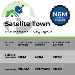 Residential Land Land for sale Peter immemesi satellite town Lagos Ojo Ojo Lagos