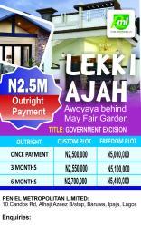 Serviced Residential Land Land for sale Behind Mayfair Garden Awoyaya Ajah Lagos Awoyaya Ajah Lagos
