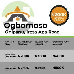Serviced Residential Land Land for sale Onipanu Iresa Apa Road Ogbomoso Oyo State  Ogbomosho Oyo