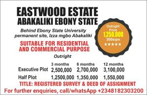 Residential Land Land for sale Behind Ebonyi State University, Permanent Site, Izza Mgbo Abakaliki Ebonyi