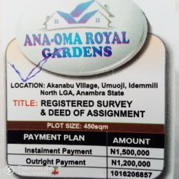 Serviced Residential Land Land for sale Akanabu Village, Umuoji, Idemmili North LGA Idemili North Anambra