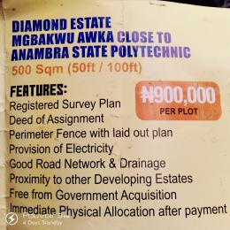 Serviced Residential Land Land for sale Mgbakwu Village Close to Anambra State Polytechnic  Awka South Anambra