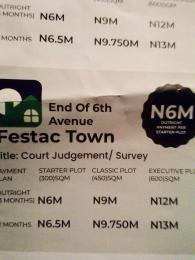 Land for sale End Of 6th Avenue, Festac Town Lagos  Festac Amuwo Odofin Lagos