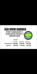 Serviced Residential Land Land for sale Iguruta, Umuechem, Port Harcourt  New Layout Port Harcourt Rivers