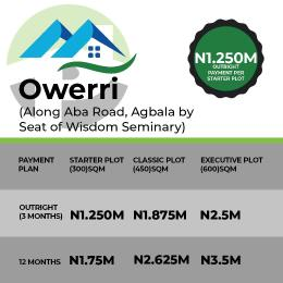 Residential Land Land for sale Along Aba Road, Agbala by seat of Wisdom Seminary.  Owerri Imo