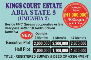 Residential Land Land for sale Beside FMC Queens Cooperative Estate, Near Pace Setter FM Radio Station, Umuahia  Umuahia South Abia