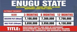 Mixed   Use Land Land for sale Centinary life Estate  Enugu Enugu