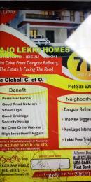 Residential Land Land for sale Oshoroko, Ibeju Lekki Town. Five minutes drive from Dangote Refinery  Free Trade Zone Ibeju-Lekki Lagos