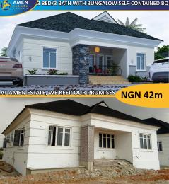 3 bedroom Terraced Bungalow House for sale Amen estate, Eleko beach road ibeju lekki. Lekki peninsula Lagos Eleko Ibeju-Lekki Lagos