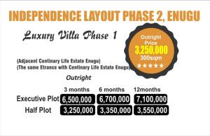 Residential Land Land for sale Independence layout phase 2 Enugu. Adjacent to Centinary life Estate Enugu(Abron home) Enugu Enugu