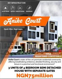 4 bedroom Semi Detached Duplex House for sale opebi  allen, ikeja Opebi Ikeja Lagos - 0