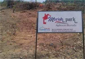 Land for sale Moriah Park, Agbowa, Ikorodu Ikorodu Lagos - 1
