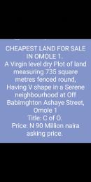 Mixed   Use Land Land for sale Babimghton Ashaye street Omole phase 1 Ojodu Lagos