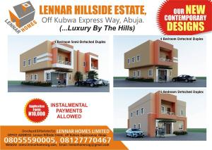3 bedroom Terraced Duplex House for sale At Lennar Hillside Estate, Beside Brick City Estate, Off Kubwa Expressway Kubwa Abuja