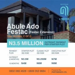 Residential Land Land for sale Abule-Ado Satellite Town Amuwo Odofin Lagos