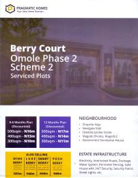 Serviced Residential Land Land for sale BERRY COURT OMOLE PHASE 2  Omole phase 2 Ojodu Lagos