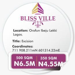 Residential Land Land for sale OROFUN Iberekodo Ibeju-Lekki Lagos