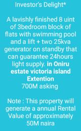 3 bedroom Blocks of Flats House for sale Oniru estate ONIRU Victoria Island Lagos