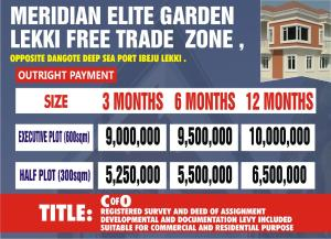 Residential Land Land for sale Lekki Free Trade Zone,opposite Dangote Deep Sea Port Free Trade Zone Ibeju-Lekki Lagos