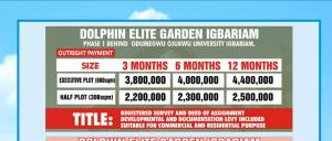 Land for sale Igbariam phase 1 Oyi Anambra