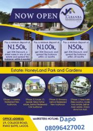 Residential Land Land for sale Honeyland estate  Arepo Arepo Ogun