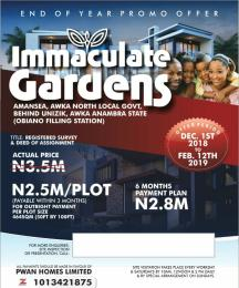 Residential Land Land for sale Amansea, Awka North Local Govt. Behind Unizik  Awka North Anambra