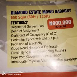 Mixed   Use Land Land for sale Diamond Estate Mowo Badagry  Age Mowo Badagry Lagos