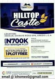 Residential Land Land for sale lmokun, Shiraye Road, Eredo L.G.A Epe Road Epe Lagos