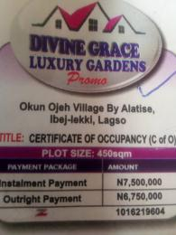Serviced Residential Land Land for sale Okun ojeh village by alatise Alatise Ibeju-Lekki Lagos