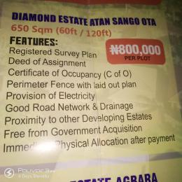 Mixed   Use Land Land for sale Diamond Estate Atan Sango Ota  Idiroko Ado Odo/Ota Ogun