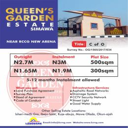 Serviced Residential Land Land for sale Simawa Near New Redeemed Auditorium  Sagamu Sagamu Ogun