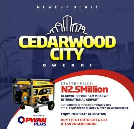 Mixed   Use Land Land for sale 5 minutes drive Before Sam Mbakwe International Airport. Owerri Imo - 0