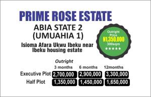 Commercial Land Land for sale Isioma Afara Ukwu ibeku near Ibeku housing Estate  Umuahia North Abia