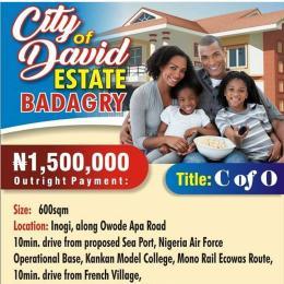 Residential Land Land for sale City of David along owode apa road Badagry Badagry Lagos