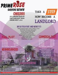 Mixed   Use Land Land for sale Avu Obosima road by Portharcourt road ,  Owerri Imo